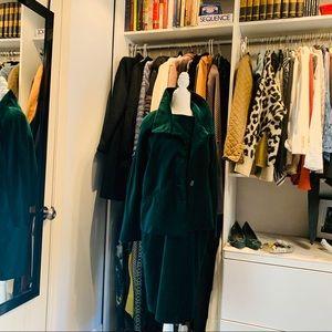 NWT Talbots green velvet set